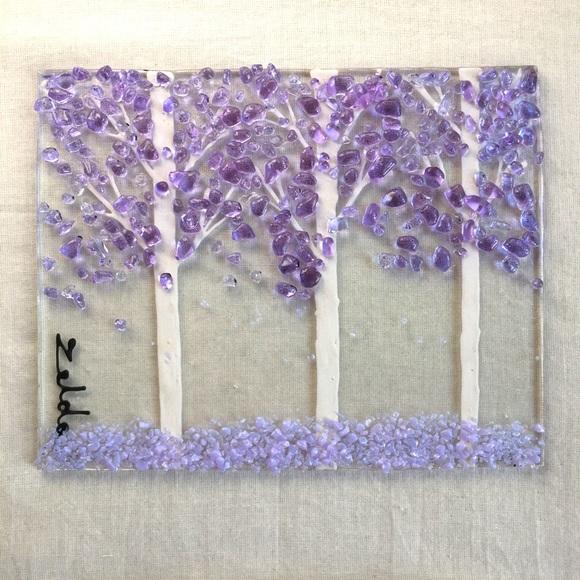Lavender Forest Art Plaque